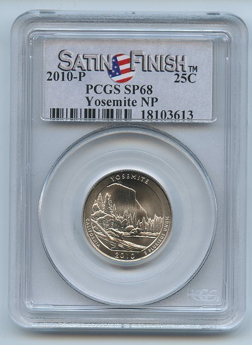 PCGS SP68 MS68 2010-P Mount Hood National Park Quarter Satin Finish